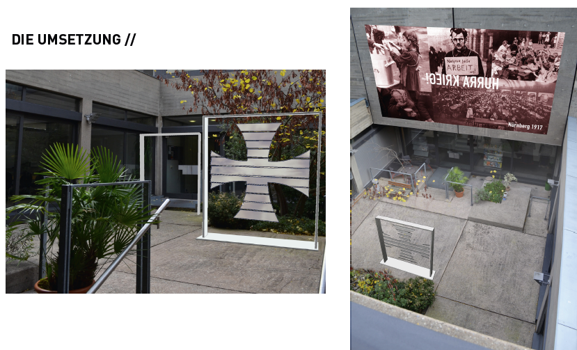 """Das """"Spiegelkreuz"""" von Andreas Schwarz wurde umgesetzt."""