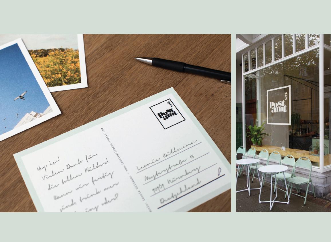 Postkarte und Aussenansicht