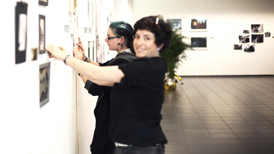 Anna und Christine Albert. Über 100 Ausstellungsstücke in 1 1/2 Tagen.
