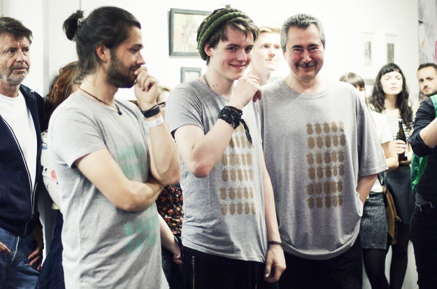 Aus dem Team: Julian, Philip und Oleg. (Foto © M. Bacherle)