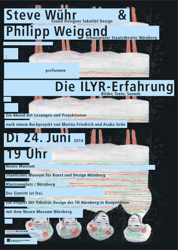 Die ILYR-Erfahrung, Bilder, Texte, Sounds – Plakat