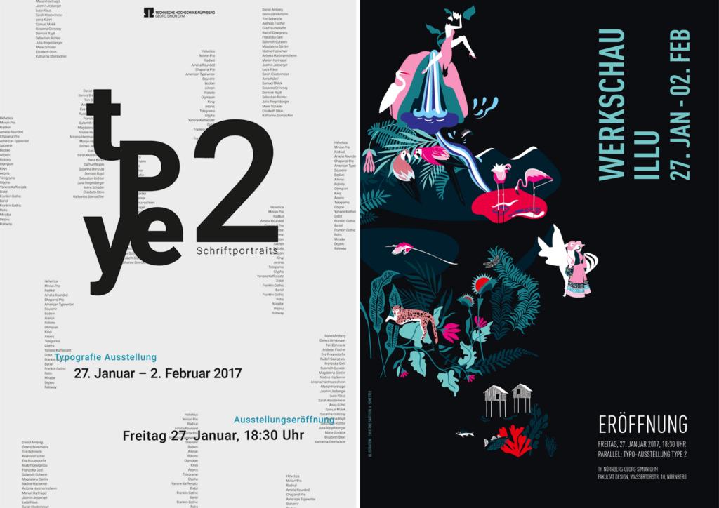 Plakate TYPE2 und Illustrations-Ausstellungen