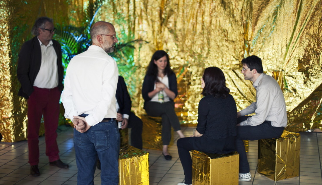 """The golden Escape"" mit den Professoren der Fakultät. (Foto © M. Bacherle)"